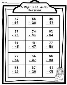 subtraction with regrouping worksheets 10670 2 digit addition by teaching second grade teachers pay teachers
