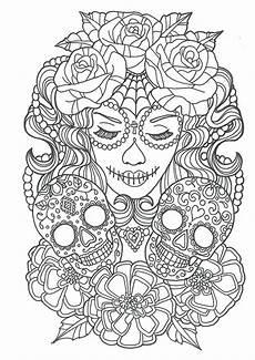 Ausmalbilder Erwachsene Totenkopf Cool Sugar Skull Coloring Pages Ideas Skull Coloring