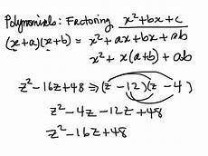 algebra worksheet factoring polynomials of the form x2bxc