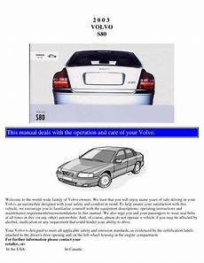 car repair manuals online pdf 2010 volvo s80 transmission control download 2003 volvo s80 owner s manual pdf 109 pages