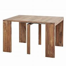 Table Console Extensible En Sheesham Massif 2 6 Personnes