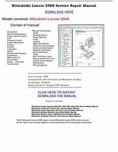 automotive repair manual 2011 mitsubishi lancer regenerative braking mitsubishi lancer 2008 service repair manual by repairmanualpdf issuu