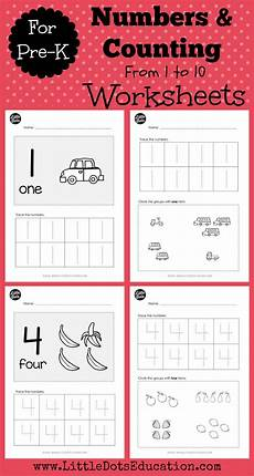 download numbers worksheets and activities for pre k or