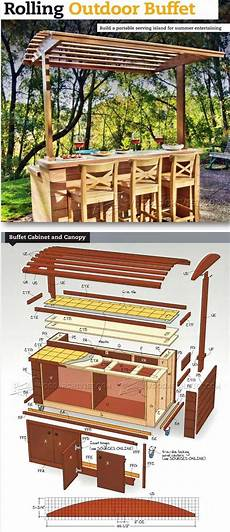 outdoor buffet table iron woodworking projects plans rolling outdoor buffet table plans outdoor furniture plans projects woodarchivist com
