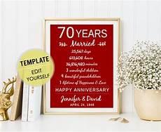 70 Year Wedding Anniversary Gifts