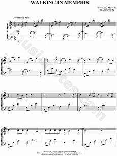 marc cohn quot walking in memphis quot sheet music piano solo in c major transposable download