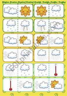 weather domino worksheets 14528 weather domino esl worksheet by saramariam