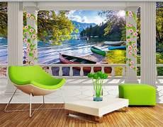 poster tapisserie geant papier peint 3d paysage trompe l oeil chute d eau dans