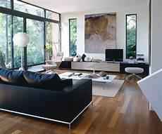 moderne wohnzimmer schwarz weiss d 233 co salon blanc pour un int 233 rieur lumineux et moderne
