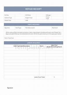 repair receipt template 21 receipt templates free premium templates