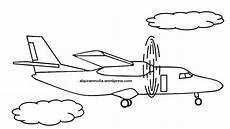 Mewarnai Gambar Pesawat Terbang8 Anak Muslim Alqur Anmulia