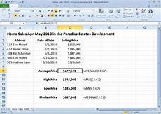 crunch numbers with excel 2010 s average max min and