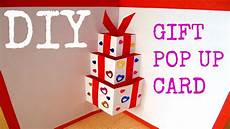 Diy Gift Pop Up Card Handmade Card Diy Birthday Card