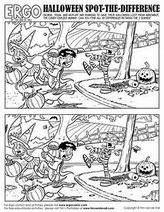 halloween spot the difference black and white tim s printables