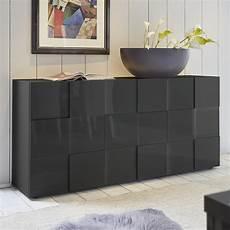 buffet bas design gris laqu 233 brillant sofamobili