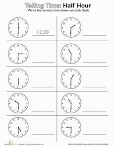 time to the hour worksheets for 2nd grade 3639 telling time on the half hour telling time math worksheets worksheets