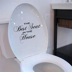 toilet seat decal best seat in the house wall