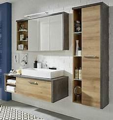 Badezimmermöbel Holz Günstig - badm 246 bel badezimmer set in eiche honig beton design