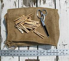 How To Make Your Own Burlap Peg Bag
