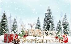 merry christmas sign decoration snow desktop wallpaper