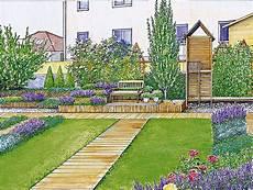 Sichtschutz Für Kleine Gärten - sichtschutz f 252 r einen kurzen breiten garten landscaping