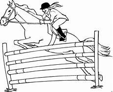 Malvorlagen Pferde Springen Pferdespringen Ausmalbild Malvorlage Comics Ausmalbilder
