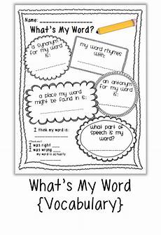 vocabulary building activities free quot what s my word quot vocabulary building worksheet literacy