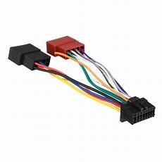 pioneer car radio stereo 16 wire wiring harness ebay car stereo radio iso wiring harness connector 16 pi100