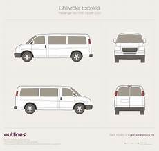download car manuals 2003 chevrolet express 2500 seat position control 2003 chevrolet express passenger swb facelift wagon drawings download vector blueprints outlines