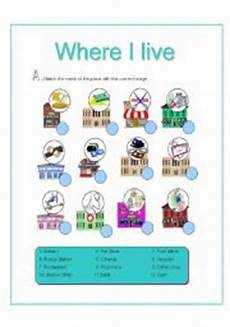 worksheets for places to live 15996 where i live places activities there is there are 2 pages esl worksheet by les