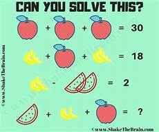 math equation puzzle question shake the brain