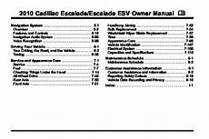 free car manuals to download 2010 cadillac escalade esv electronic toll collection 2010 cadillac escalade owners manual