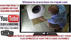 How To Find A Water Leak On A Washing Machine