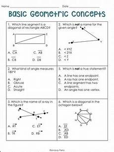 basic geometry worksheets with answers 639 geometric concepts worksheet free activity by lindsay perro tpt