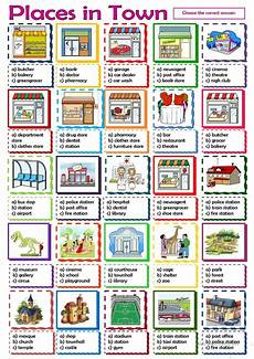 places worksheets 15930 places in town worksheet free esl printable worksheets made by teachers