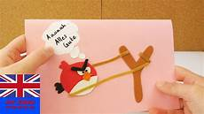 how to make this cool angry birds birthday card angry