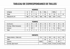 Tableau De Correspondance De Tailles By Jean Host