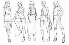 Gambar Seni Reka Fesyen Sketches Figura Contoh Gambar