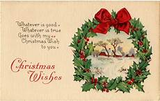vintage christmas wreath card the graphics
