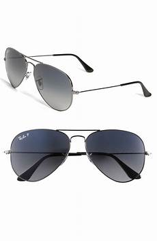 ban polarized aviator sunglasses in gray grey blue