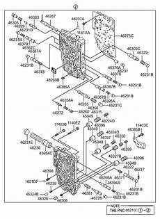 2009 hyundai santa fe transmission diagram wiring schematic 46210 3b610 genuine hyundai parts