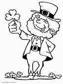St Patricks Day Coloring Pages Shamrock Leprechaun