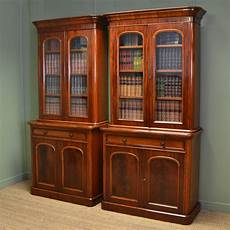 fabulous quality unusual pair of victorian mahogany bookcases antiques world
