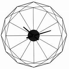 wanduhr aus metall schwarz d 80 metal clock clock