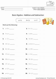 basic algebra addition and subtraction by primaryleap teaching resources tes