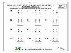 subtraction with regrouping worksheet for grade 1 column subtraction no regrouping 2 digits sheet 1