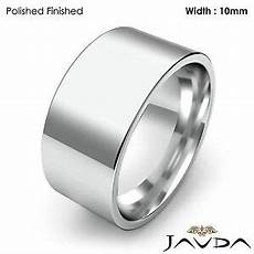 comfort fit flat pipe cut high polish ring men wedding