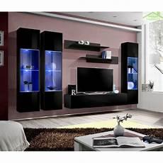 ensemble meuble tv mural fly c avec led