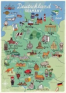 Kinder Malvorlagen Deutschlandkarte Poster Deutschland Kinderzimmer Landkarte Din A3 Unbekannt