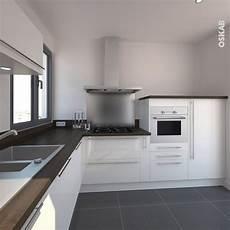 plan de travail en l cuisine blanche moderne fa 231 ade stecia blanc brillant